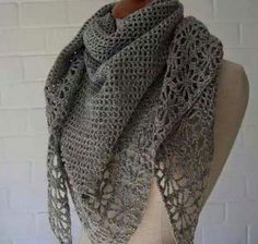 Patrón #1430: Bufanda a Crochet   CTejidas [Crochet y Dos Agujas]