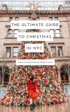 The ultimate guide to the holiday season in NYC. All of the best festive activities in New York City to experience in December! new york The Ultimate Guide to the Holiday Season in NYC - FashionTravelRepeat New York City Christmas, Christmas Travel, Holiday Travel, Christmas Trips, Xmas In New York, Christmas Vacation, New York Winter, Winter In Nyc, New York City Vacation
