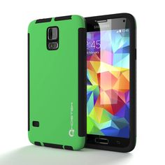ghostek-blitz-samsung-galaxy-s5-green-carrying-case-w-attached-screen-protector-lifetime-warranty-rubberized-fitted-smooth-non-slip-matte-for-galaxy-s-5-v-i9600-sm-g900-ghocas11