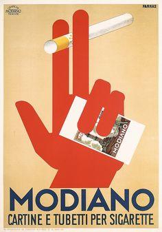RARE Original 1930s Modiano Poster FARKAS Art. Part of our November 3, 2013 poster auction.