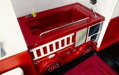 firetruck custom bathtub