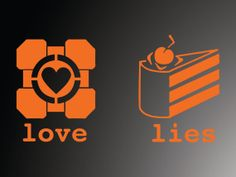 Portal Sticker Companion Cube and cake vinyl by IMadeThisVinyl, $4.00 Cricut Vinyl, Vinyl Decals, Companion Cube, Game Room Basement, Portal 2, When One Door Closes, Video Game Cosplay, Wall Stickers, Geek Stuff