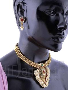 Pearl String Enhanced Paisley #Necklace Set   HiFlame14.com Call or #Whatsapp (7200 70 1414) for any further info.