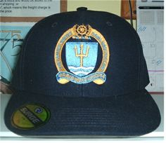 07e5fa5f444 NAVAL WAR COLLEGE w  CREST Custom made FITTED ball caps