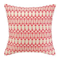 The Pink Dottie Delight Pillow by Iza Pearl is part of an eclectic collection of pillows and other textiles created by exciting designers in their studio, who focus on generating trend right and fashion forward products. These decorative home accessories are exceptional in both quality and value.