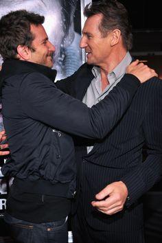 Bradley Cooper & Liam Neeson  #hollywood #celebrity