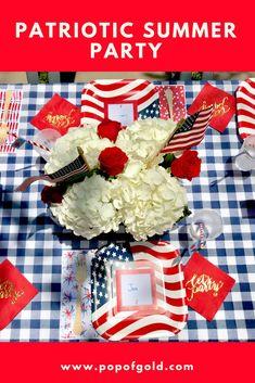 Memorial Dayor of July summer party ideas! Summer Party Themes, 4th Of July Party, Summer Parties, Fourth Of July, Diy Party, Party Ideas, Holiday Decorating, Decorating Ideas, Decor Ideas