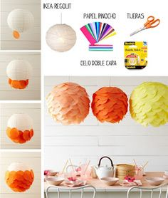 20 DIY Paper Lanterns and Lamps l Easy Paper Craft Ideas And Projects Bold and Bright Tissue Paper Discs Lanterns….Amazing DIY Paper Lanterns and Lamps to Brighten Your Home Easy Paper Crafts, Paper Crafting, Diy And Crafts, Cool Diy Projects, Craft Projects, Craft Ideas, Diy Abat Jour, Crafts For Teens, Diy Art