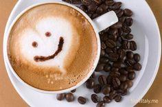"cappuccino-smiley  ""Capriccino""  for the lactose-intolerant."