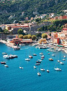 Villefranche bay of Cote d'Azur in France