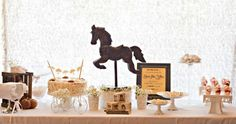 Vintage Rocking horse Baby Shower