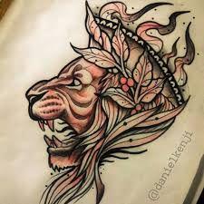 Resultado de imagen para lion perfil tattoo