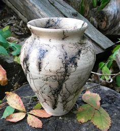 Horsehair Vase by dirtygirlpottery1 on Etsy, $55.00