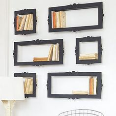 framed books (respect finally paid to literature)
