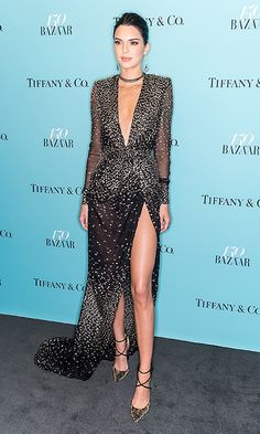 Kendall Jenner hit the red carpet wearing Redemption at the Harper's BAZAAR 150th Anniversary Event presented with Tiffany & Co at The Rainbow Room.