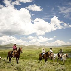 Photo by @lynn_donaldson // Cowboys take a break from rounding up cattle on the J Bar L Ranch in #Montana 's remote Centennial Valley. Believe it or not a couple hours after this image was taken a snowstorm rolled in. It was July! The enormous heavy flakes fell for about 20 minutes but by late afternoon it was once again  nothing but blue skies over miles and miles of purple lupine & sagebrush.  @visitmontana #montanamoment #lynn_donaldson #jbarlmontana @yellowstonegrassfedbeef by…