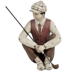 Seated Golfer 21 x 16 x 26 cm £36.99 Available at Holly House, Enterprise Shopping Centre, http://enterprise-centre.org/shop/holly-house-gifts