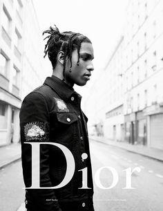 A$AP Rocky, que já estrelou a campanha anterior da Dior Homme