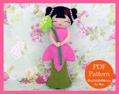Teeth fairy. PDF pattern. Felt doll. by Noialand on Etsy