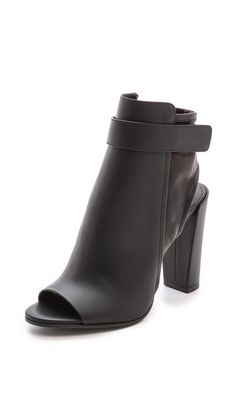 Sandals that remind me of boots.  These are for Me!!! Vince BRIGHAM OPEN TOE BOOTIES