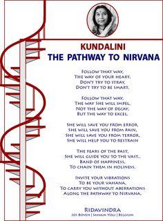 KUNDALINI : THE  PATHWAY  TO  NIRVANA   Ridavindra Jos Boven | Sahaja Yogi | Belgium