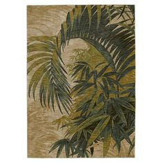 "TOMMY BAHAMA / Polynesian Palms Rug in Biege / 5'5"" x 7'9"" / $313.95 -- love it!"