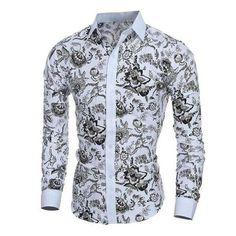 Elegant Noble Floral Shirt