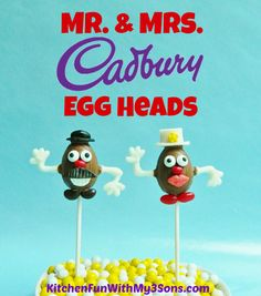 Mr. & Mrs. Cadbury Egg Head Pops