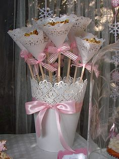 Doily Treat Cones