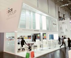 GCR group Stand design | booth design | tradeshow | in messe Düsseldrof | K-2016  http://byquam.com/es-ES/proyectos/diseno-y-produccion-de-stands/stand-para-gcr-group-en-duesseldorf