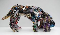 """""""Some of the sculptures contain pieces from up to 3,000 toys and sell for around $20,000""""-Cyril Foiret"""