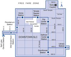 Free Fare Zone Map a