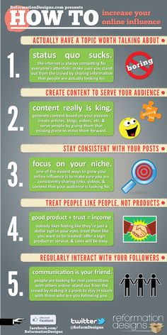 5 Easy Steps To Increase Your Online Influence #Infographic