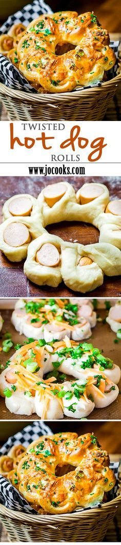 Twisted Hot Dog Rolls - a new spin on the traditional hot dog roll.