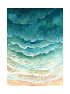 Ombre Waves by Honeybunch Studio for Minted