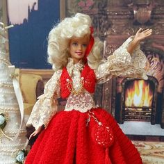 Offro uno sconto! ON SALE! Barbie, Glamour Dolls, Crochet, Beaded Jewelry, Victorian, Etsy, Dresses, Fashion, Vestidos
