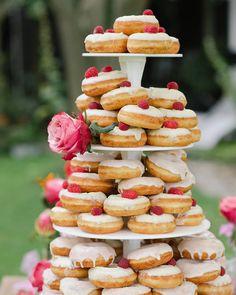 Yum!  Donuts: @lottiesdoughnuts  #weddingphotography: @marilynbartman  stylists: @yvetvanriek see the entire wedding on #weddingchicks right now via @angela4design
