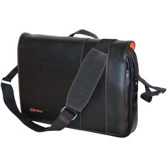 "Mobile Edge 13"" & 14.1"" Tablet & Notebook Slimline Messenger ( Black With Orange Stitching)"