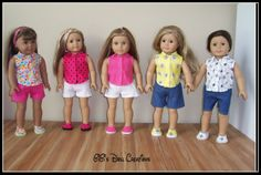 GiGi's Doll and Craft Creations: Handmade Summer 18 inch Doll Wardrobe and Pattern ...