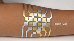 DuoSkin:Functional, stylish on-skin user interfaces