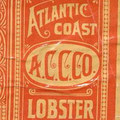 Lobster Label 2.  #typehunter  #typeresearch #vintagelabel