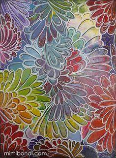 ''Bloom Away'', mixed media painting by Mimi Bondi