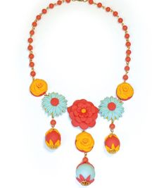 Clay Flower NecklaceClay Flower Necklace