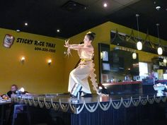 Apinya performing a Thai Dance called the Finger Dance at the Sticky Rice Thai Cuisine Restaurant. Presented by www.bcrestaurants.ca / www.ecomcreator.com