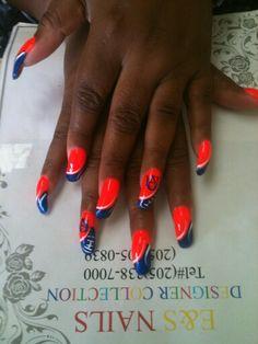 Auburn nails/ war eagle