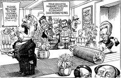 A sus pies... y a la patada :) (KAL Cartoon, The Economist)