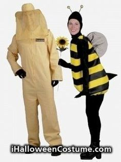 Cute Halloween costumes for couples - Bumble Bee and Beekeeper Halloween Costumes 2014, Couple Halloween, Halloween Cosplay, Halloween Fun, Cosplay Costumes, Bee Costumes, Fancy Dress, Dress Up, Great Costume Ideas