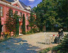 Eilif Peterssen, I hagen, Ledaal. (1900)