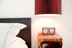 This side table, like the clock radio too