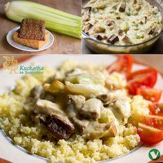 Kuchařka ze Svatojánu: ZAPEČENÝ ŘAPÍKATÝ CELER Risotto, Potato Salad, Mashed Potatoes, Food And Drink, Meat, Chicken, Ethnic Recipes, Whipped Potatoes, Smash Potatoes
